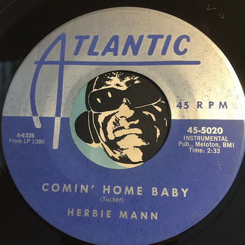 Herbie Mann - Comin Home Baby b/w Summertime - Atlantic #5020 - Jazz Mod