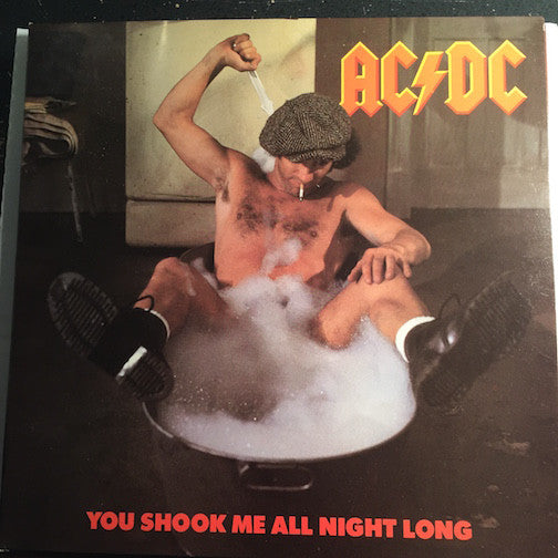 AC/DC - You Shook Me All Night Long b/w She's Got Balls (live version) - Atlantic #9377 - Rock n Roll