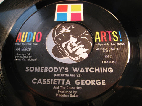 Cassietta George - He Never Left Me Alone b/w Somebody's Watching - Audio Arts #60026 - Gospel Soul