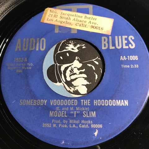 Model T Slim - Somebody Voodooed The Hoodooman b/w You're Growing Old Baby - Audio Blues #1932 - R&B Blues - Blues