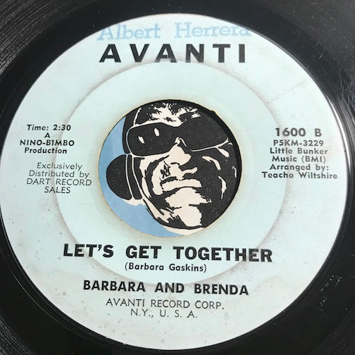 Barbara And Brenda - Let's Get Together b/w Shame - Avanti #1600 - Northern Soul
