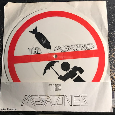 Megatones - Don't Drop The Bomb (On My Boyfriend) - The Brezhnev Boogie b/w blank (picture disc) - Azra #119 - Colored vinyl - Punk / Power Pop
