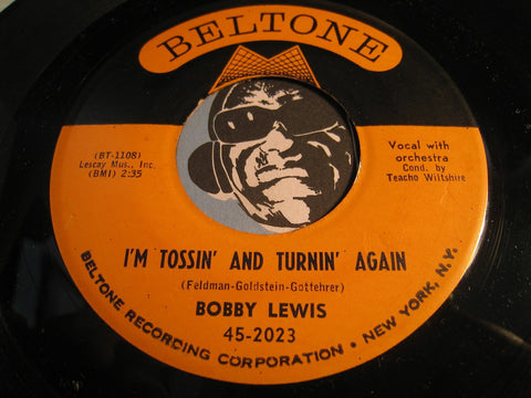Bobby Lewis - I'm Tossin And Turnin Again b/w Nothin But The Blues - Beltone #2023 - R&B