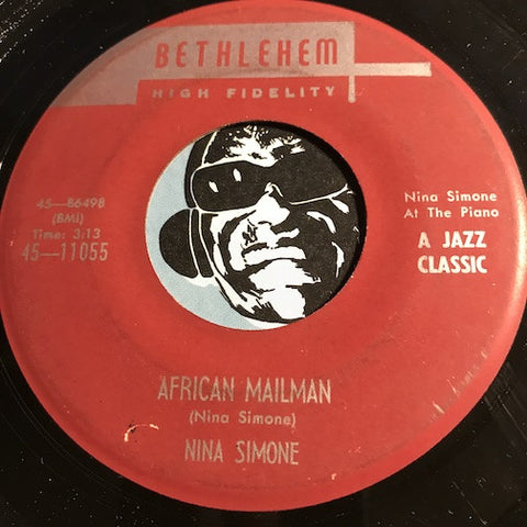Nina Simone - African Mailman b/w Don't Smoke In Bed - Bethlehem #11055 - Jazz Mod