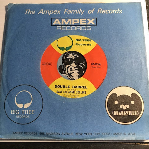 Dave & Ansil Collins - Double Barrel b/w instrumental - Big Tree #115 - Reggae