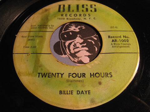 Billie Daye - Twenty Four Hours b/w When A Girl Gives Her Heart To A Boy - Bliss #1002 - Teen - Doowop