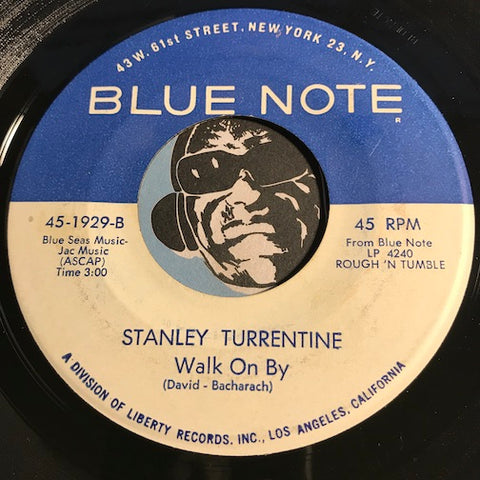 Stanley Turrentine - Walk On By b/w And Satisfy - Blue Note #1929 - Jazz - Jazz Funk