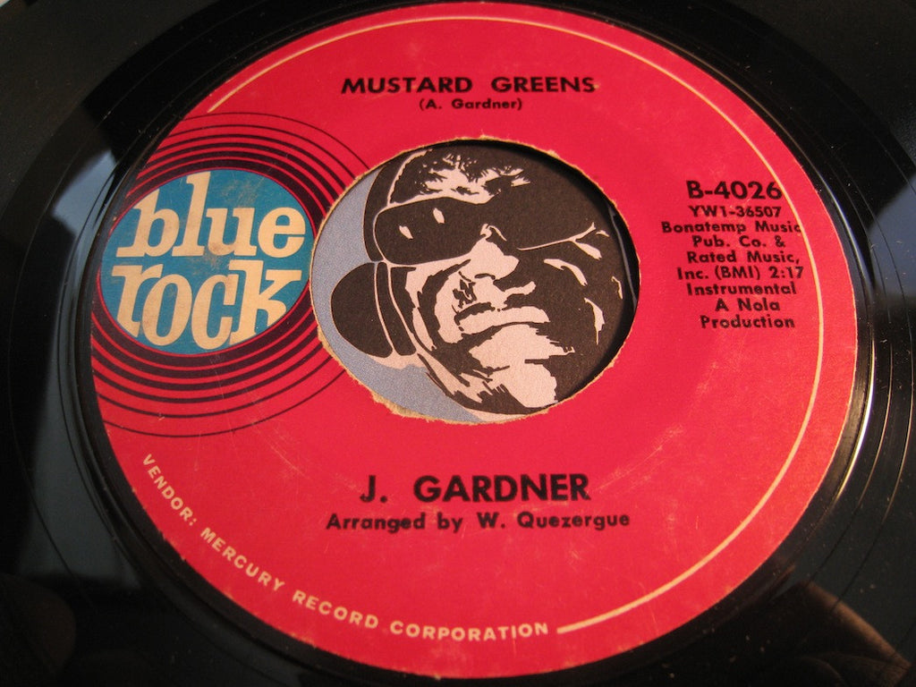 J. Gardner - Mustard Greens b/w 99 Plus 1 - Blue Rock #4026 - Jazz Funk