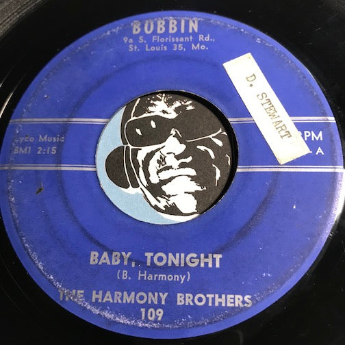 Harmony Brothers - Baby Tonight b/w You Don't Care - Bobbin #109 - Rockabilly