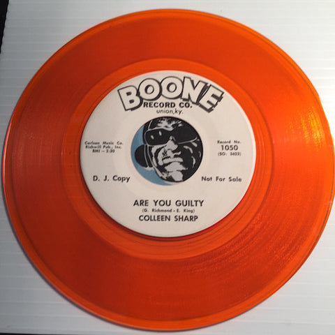 Colleen Sharp - Are You Guilty b/w same - Boone #1050 - Colored Vinyl - Teen