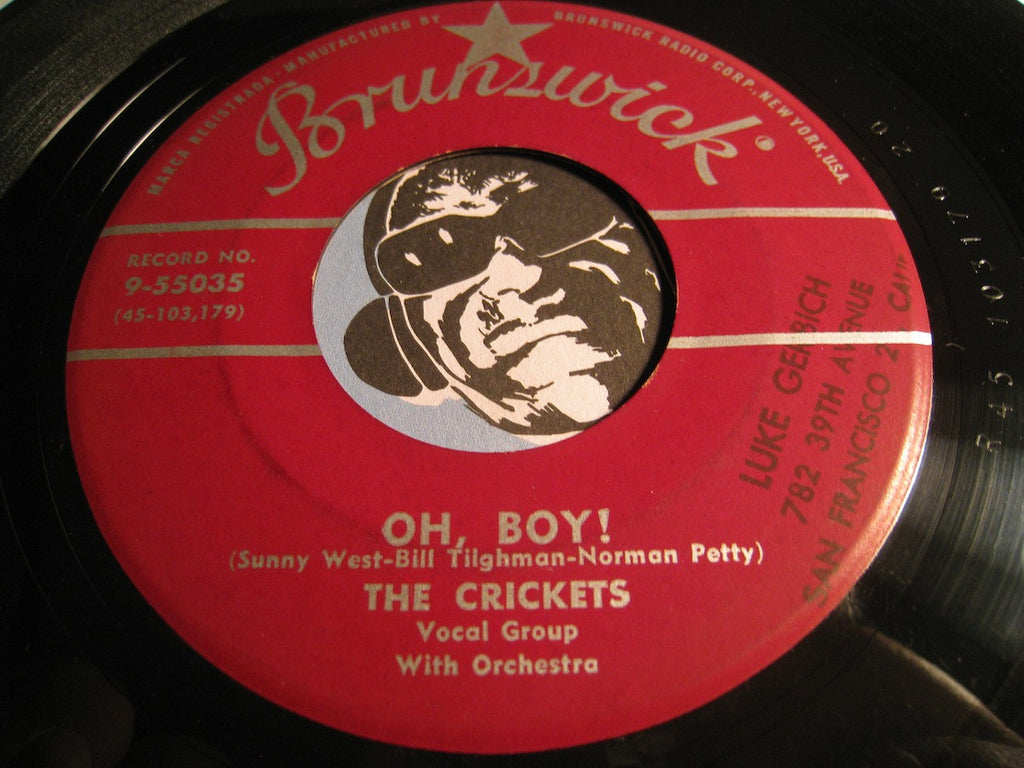 Crickets - Oh Boy! b/w Not Fade Away - Brunswick #55035 - Rock n Roll