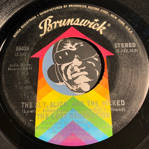 Lost Generation - Sly Slick & Wicked b/w You're So Young But You're So True  - Brunswick #55436 - Modern Soul