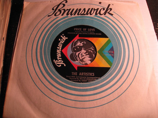 Artistics - Price Of Love b/w Yesterday's Girl - Brunswick #755416 - Northern Soul