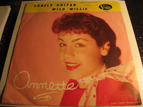 Annette - Lonely Guitar b/w Wild Willie - Buena Vista #339 - Teen
