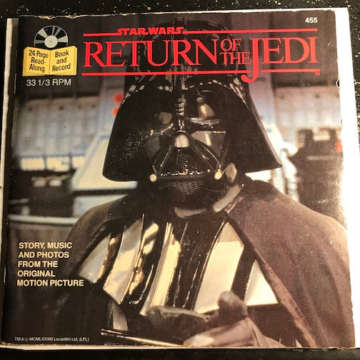 Star Wars Return Of The Jedi - Book and Record - Return Of The Jedi pt.1 b/w pt.2 - Buena Vista #455 - Children's