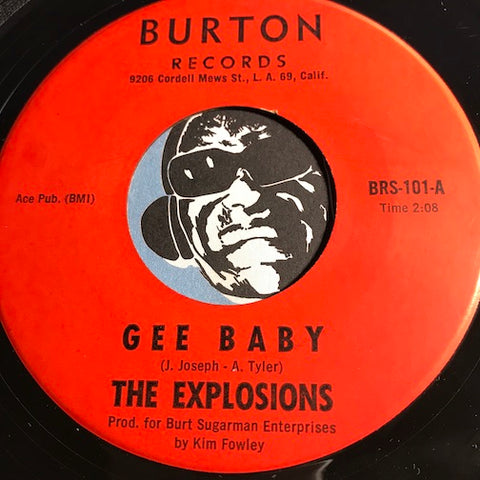 Explosions - Gee Baby b/w Try Again - Burton #101 - Chicano Soul - R&B Soul