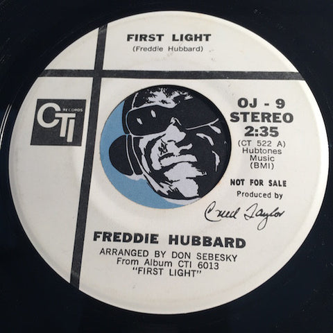 Freddie Hubbard - First Light b/w Yesterday's Dreams - CTI #9 - Jazz Funk