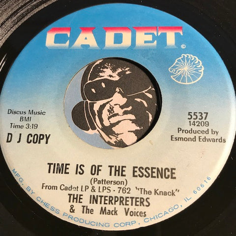 Interpreters - Time is Of The Essence b/w The Knack - Cadet #5537 - Jazz Mod
