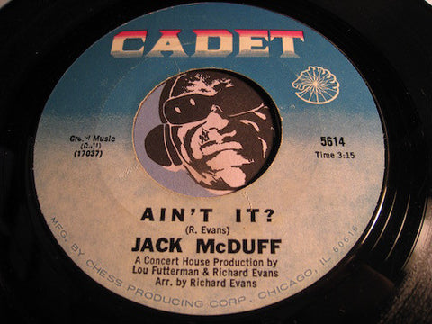 Jack McDuff - Ain't It b/w Let My People Go - Cadet #5614 - Jazz Funk - Jazz Mod