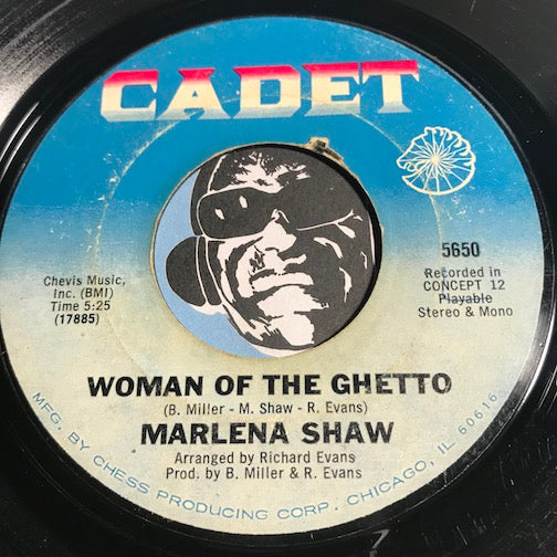 Marlena Shaw - Woman Of The Ghetto b/w I'm Satisfied - Cadet #5650 - Funk