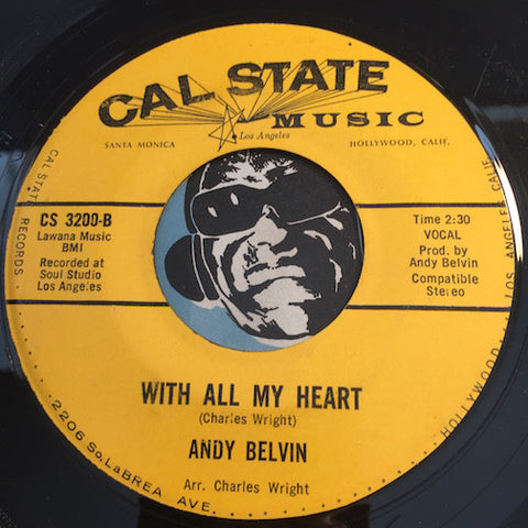 Andy Belvin - With All My Heart b/w You Were Meant For Me - Cal State #3200 - Doowop