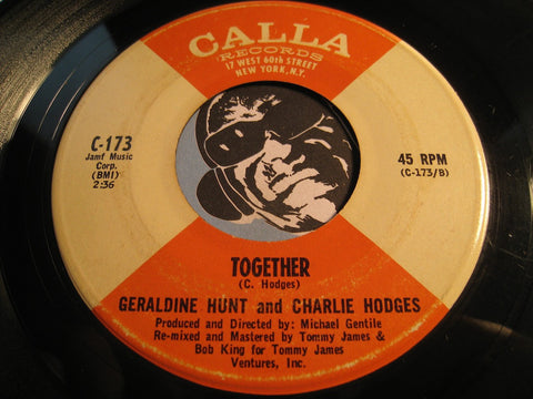 Geraldine Hunt & Charlie Hodges - Together b/w You And I - Calla #173 - R&B Soul