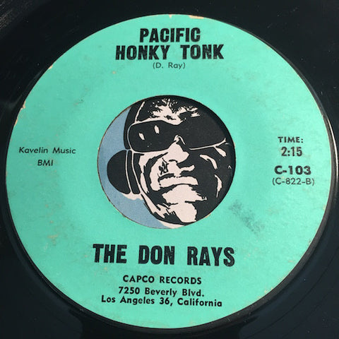 Don Rays / Cleve Herman - Pacific Honky Tonk b/w In This Corner - Capco #103 - Garage Rock