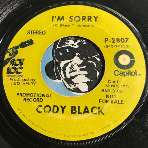 Cody Black - I'm Sorry b/w Fool On The Wild - Capitol #2807 - Northern Soul
