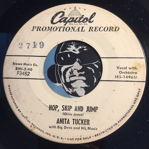 Anita Tucker - Hop Skip And Jump b/w Handcuffed Heart - Capitol #3452 - R&B Rocker