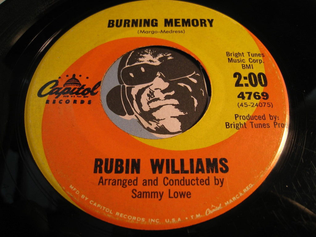 Rubin Williams - Burning Memory b/w Blow Out The Sun - Capitol #4769 - Northern Soul