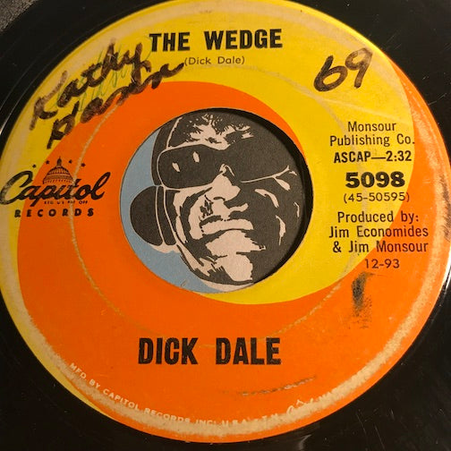 Dick Dale - The Wedge b/w Night Rider - Capitol #5098 - Surf