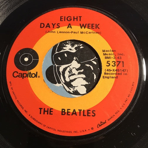 Beatles - Eight Days A Week b/w I Don't Want To Spoil The Party - Capitol #5371 - Rock n Roll
