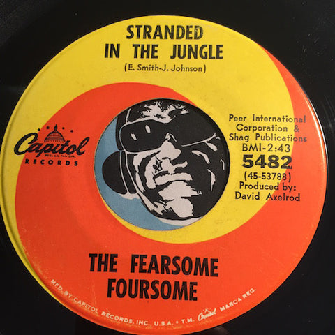 Fearsome Foursome - Stranded In The Jungle b/w Fly In The Buttermilk - Capitol #5482 - Doowop - R&B Soul