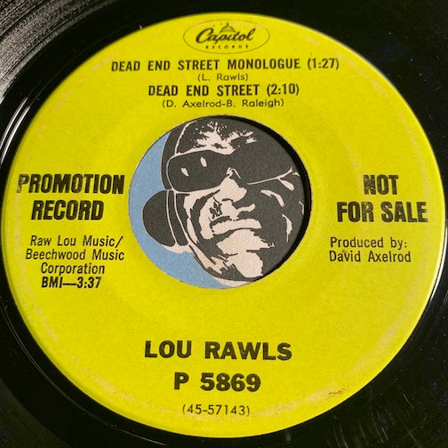 Lou Rawls - Dead End Street Monologue - Dead End Street b/w Yes It Hurts Doesn't It - Capitol #5869 - Northern Soul