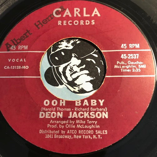 Deon Jackson - Ooh Baby b/w All On A Sunny Day - Carla #2537 - Northern Soul