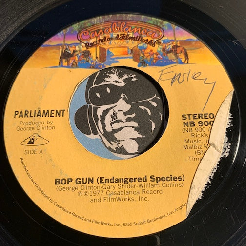 Parliament - Bop Gun (Endangered Species) b/w I've Been Watching You (Move Your Sexy Body) - Casablanca #900 - Funk
