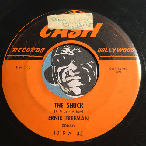 Bobby Relf / Ernie Freeman - Our Love (Bobby Relf) b/w The Shuck (Ernie Freeman) - Cash #1019 - Doowop - R&B Instrumental