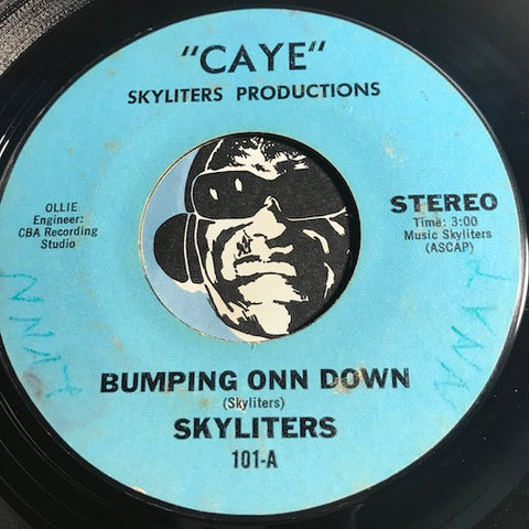 Skyliters - Bumping Onn Down b/w Tribute To Spree - Caye #101 - Reggae