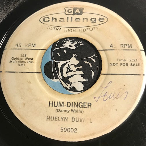 Huelyn Duvall - Hum-dinger b/w You Knock Me Out - Challenge #59002 - Rockabilly