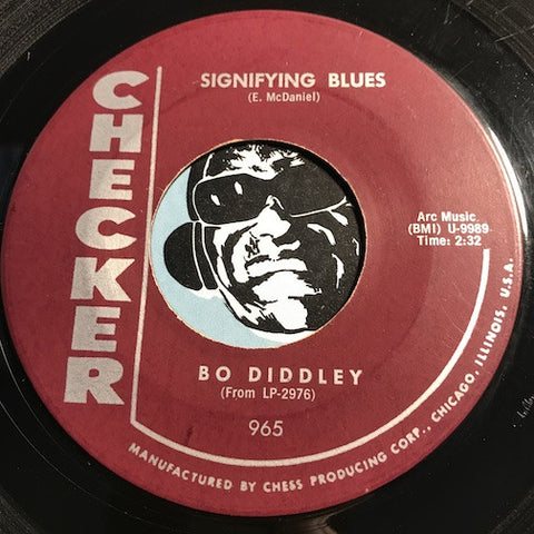 Bo Diddley - Signifying Blues b/w Gun Slinger – Checker #965 - R&B - R&B Blues - Rock n Roll