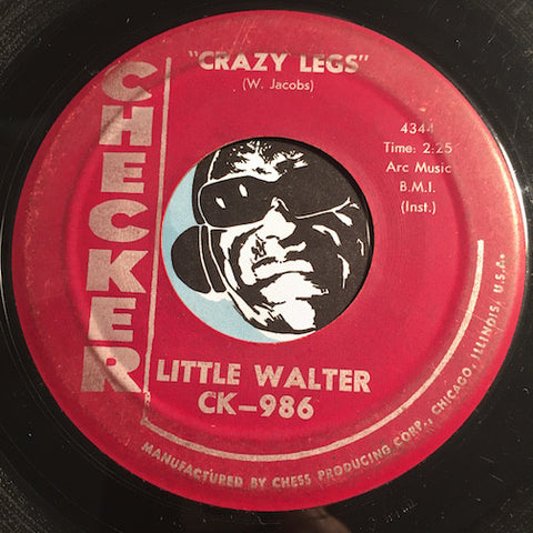 Little Walter - Crazy Legs b/w Crazy For My Baby - Checker #986 - R&B - R&B Rocker