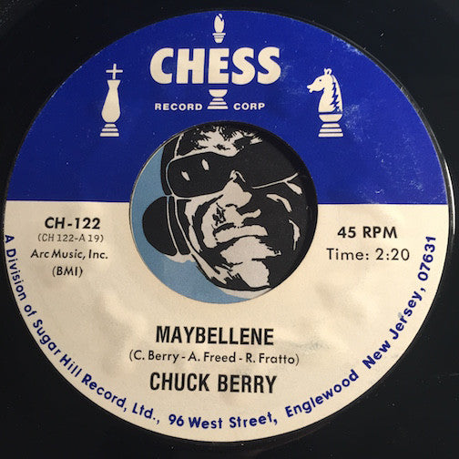 Chuck Berry - Maybellene b/w Almost Grown - Chess #122 - R&B Rocker - R&B