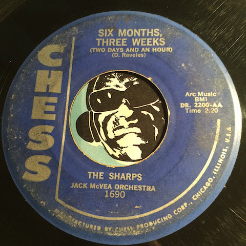 Sharps / Jack McVea - Six Months Three Weeks (Two Days and an Hour) b/w Cha Cho Hop - Chess #1690 - Doowop - R&B Instrumental