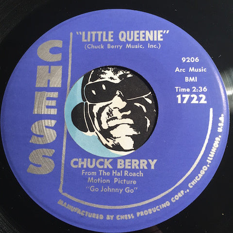 Chuck Berry - Little Queenie b/w Almost Grown - Chess #1722 - R&B - R&B Rocker