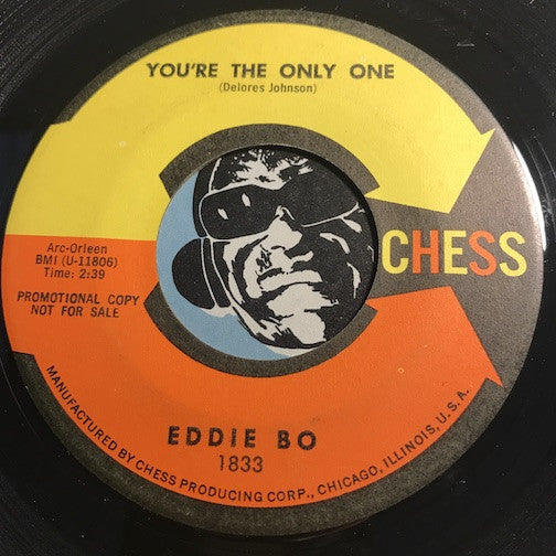 Eddie Bo – You're The Only One b/w You're With Me – Chess #1833 - R&B Soul - R&B