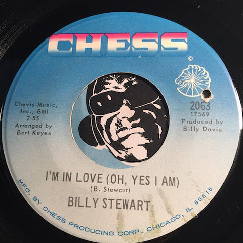 Billy Stewart - I'm In Love (Oh Yes I Am) b/w Crazy 'Bout You Baby - Chess #2063 - R&B Soul