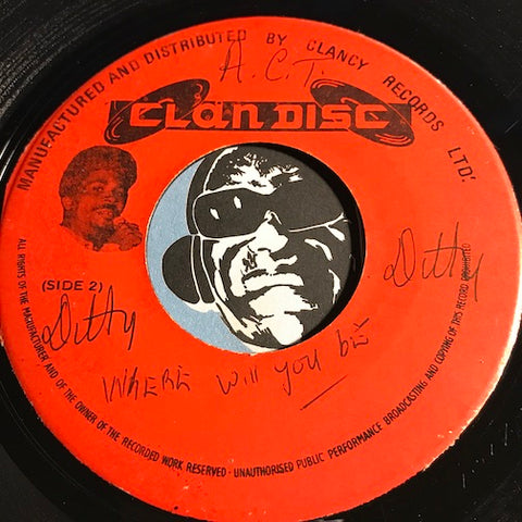 Stranger Cole & Gladdy Anderson - Where Will You Be Tomorrow b/w instrumental - Clan Disc no # - Reggae