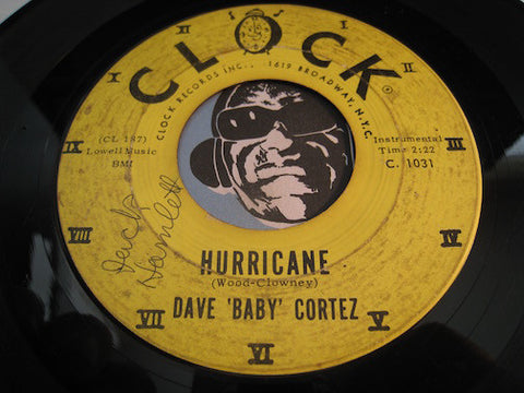 Dave Baby Cortez - Hurricane b/w The Shift - Clock #1031 - R&B Soul - R&B Instrumental