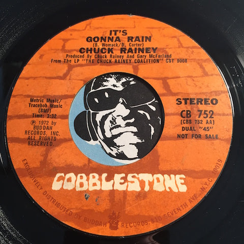 Chuck Rainey - It's Gonna Rain b/w same - Cobblestone #752 - Jazz Funk