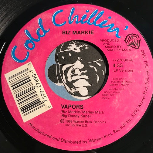 Biz Markie - Vapors b/w The Do Do - Cold Chillin #27890 - Rap